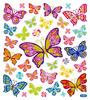 Beautiful Butterflies Gold Glitter Accented Stickers