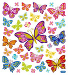 Beautiful Butterflies Gold Glitter Accented Stickers