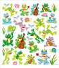 Friendly Frogs Glitter Accented Stickers