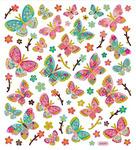 Butterflies Gold Foiled Stickers