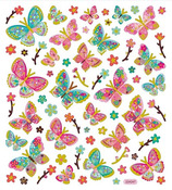Butterflies Gold Foiled Stickers