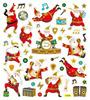 Jolly Santa Gold Glitter Stickers