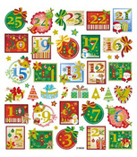 Countdown To Christmas Gold Glitter Stickers