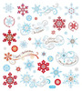 Whimsy Winter Silver Glitter Stickers