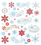 Whimsy Winter Silver Glitter Stickers