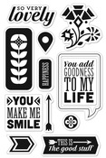 You Make Me Smile Clear Stamps - Grand Bazaar - Basic Grey