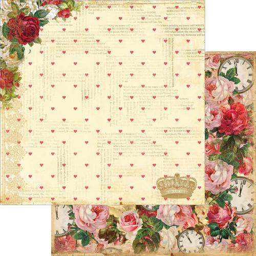 "Roses ""R"" Red Paper - Mad Tea Party - Marion Smith Designs"