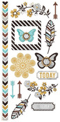 Indian Summer Embossed Stickers - We R Memory Keepers