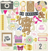 Notes & Things 12 x 12 Chipboard Stickers - Crate Paper