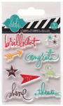 Brilliant Mixed Media Clear Mini Stamps - Heidi Swapp