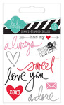 Always Mixed Media Clear Mini Stamps  - Heidi Swapp