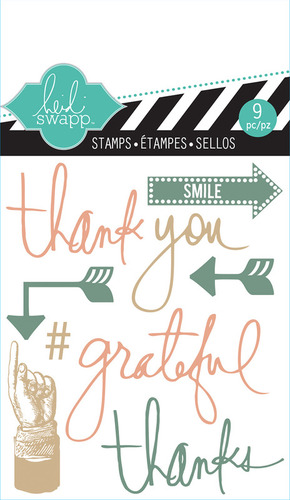 Thank You Mixed Media Clear Mini Stamps - Heidi Swapp