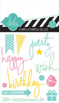 Party Mixed Media Clear Mini Stamps - Heidi Swapp