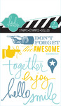Together Mixed Media Clear Mini Stamps - Heidi Swapp