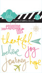 Journey Mixed Media Clear Mini Stamps - Heidi Swapp