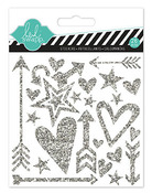 Hello Today Silver Puffy Shapes Stickers - Heidi Swapp