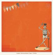 Dancing Skeleton Glittered Paper - Frightful - My Minds Eye