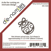 Bitty Swirly Ornament - Die - namites Die