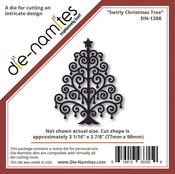 Swirly Christmas Tree - Die - namites Die