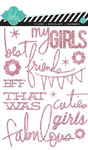 Pink Glitter Stickers - Heidi Swapp