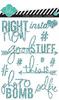 Teal Glitter Stickers - Heidi Swapp