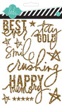 Gold Glitter Stickers - Heidi Swapp
