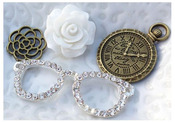Schmancy Metal Resin Embellishments - Junque & Gems - Marion Smith Designs
