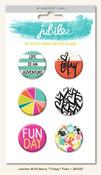 Today Flair Buttons - Wild Berry - Mint Julep - My Minds Eye