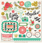 Live It Up Chipboard Elements - Mint Julep - Jubilee - My Minds Eye