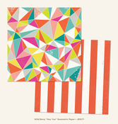 Geometric Paper - Hey You - Wild Berry - Jubilee - My Minds Eye