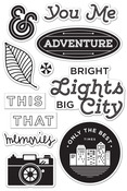 Bright Lights Clear Stamps - Second City - Basic Grey