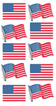 American Flag Repeats Sticko Stickers - EK Success