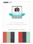 Peppermint Swirl 4 x 6 Captured Moments Journaling Cards - KaiserCraft