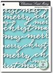 Script Merry Stencil - Memory Box