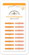 Tangerine Mini Clothespins - Doodlebug