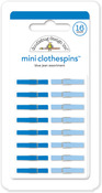 Blue Jean Mini Clothespins - Doodlebug