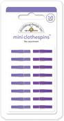 Lilac Mini Clothespins - Doodlebug