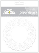 Lily White Paper Doilies - Doodlebug