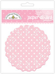 Cupcake Polka Dot Paper Doilies - Doodlebug