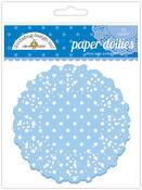 Blue Jean Polka Dot Paper Doilies - Doodlebug