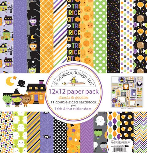 Ghouls & Goodies 12 x 12 Paper Pack - Doodlebug