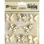 Cream Butterflies - Darjeeling Teastained - Petaloo