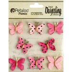 Pink Butterflies - Darjeeling Teastained - Petaloo