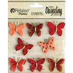 Red Butterflies - Darjeeling Teastained - Petaloo