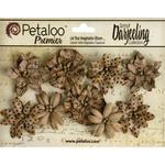 Kraft Brown Medium Paper Flowers - Darjeeling Wild Blosoms