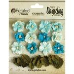 Teal Petite Blooms - Darjeeling Teastained - Petaloo