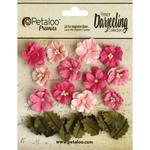 Pink Petite Blooms - Darjeeling Teastained - Petaloo
