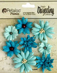 Teals Teastained Mixed Flowers