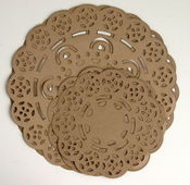Kraft Brown Doilies - Petaloo