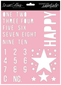 Happy 8 x 10 Stencil - Signature Essentials - Teresa Collins